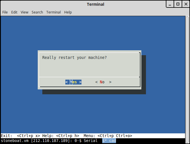 Restarting your Server - Documentation | Bytemark