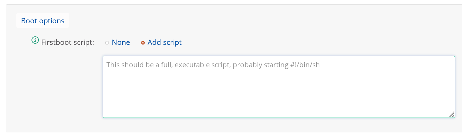 Using the firstboot script - Documentation   Bytemark